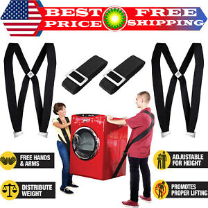 Appliances /& Furniture Two Person Pain-Free Moving Dolly Extra 4 Gloves Moving /& Lifting Straps to Carry Heavy Objects Storage Bag /& 4 Super-Sliders