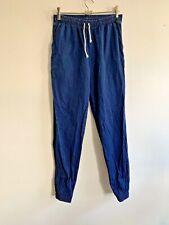 American Apparel Long Leg Blue Denim Jeans Jogger Pants Elastic Waist Ankle XS