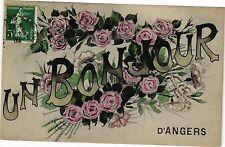 CPA Un Bonjour d'Angers (189819)