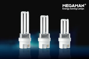 2 x New MEGAMAN Low Energy bulb DL 11W PLI GY29.3 MATRIX SIZE 3500K 4p311i light