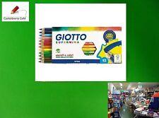Stock di 10 Pacchi di Colori Pastello Giotto Supermina a Matita da 12 Marca Fila