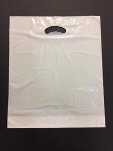 DKT Tragetaschen 55x60+2x5cm 50my weiß Plastiktüten Griffloch Beutel stabil fest