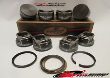 "GM LS2 LS3 LQ4 LQ9 6.0L FLAT TOP PISTONS (8) 4.00""  AND PISTON RINGS ENGINETECH"