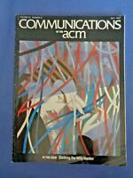 Communications of the ACM May 1988 Tech Fastest Scrabble Program Stalk Hackers