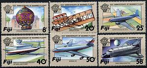 Fiji 1983 SG#659-664 Manned Flight MNH Set + Error #D41072