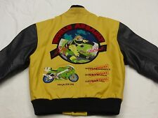 * Kawasaki Ninja ZX GIACCA DI PELLE * World Assault SUPER BIKE * VINTAGE * Gr: M * Tip Top