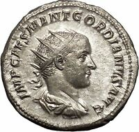 GORDIAN III 238AD Antioch EARLY Portrait HEAVY Silver Ancient Roman Coin i51114