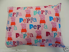 Child Toddler Cot Pillowcase - Peppa Pig on Pink - Great Gift!! 100% Cotton