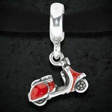 Pandora Silver Red Scooter Pendant Charm 791140EN42 Mint Condition Retired