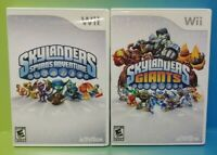 Skylanders 2 Game Lot Giants & Spyro's Adventure Nintendo Wii Wii U Tested