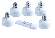 5x E27 Wireless Screw Remote Control Light Lamp Bulb Holder Cap Socket Switch