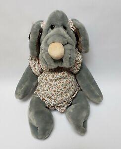 "Vintage Wrinkles Original Pupple Pet 1981 Hand Puppet Plush GANZ Girl Dog 18"""