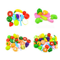 Fruit Vegetable Food Cutting Set Pretend Role Play Kitchen Food Toys for Ki Y8R2