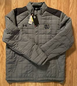 Notre Dame Football Team Issued Under Armour Coat New Tags Size Large