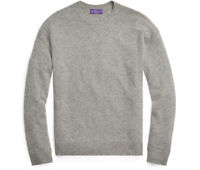 $1,495 Ralph Lauren Purple Label Grey Diamond Knit Cashmere Crew Neck Sweater