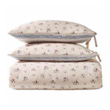 Sparrow & Wren Floral Stripe Reversible Blue/Rose Pink 3-Pc King Duvet Set Nwt
