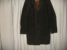 """LOVELY  PETER WERTH  MANS JACKET/ COAT  BROWN SUEDE EFFECT FULLY LINED 40"""" CHEST"""