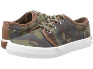 POLO RALPH LAUREN 990998J ETHAN LOW Jr's (M) Army Canvas Casual Shoes