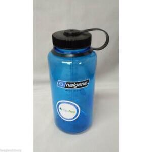 Nalgene Wide Mouth 32oz BPA Free Tritan Water Bottle Slate Blue w/Black Lid