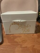 Wedding Bride's File Guest And Gift Registry Card Set Marriage White Case EUC