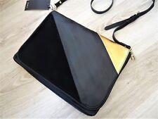 ZARA BLACK & GOLD CONTRAST MATERIAL CLUTCH BAG