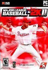 NICE COMPLETE in BOX PC MLB GAME - Major League Baseball 2K11 (PC DVD-ROM, 2011)