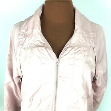 643a077815d45 Appleseeds Womens Jacket Petite Small S PS Pink Zip Up Lined Windbreaker AA4