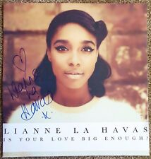 Signed LIANNE LA HAVAS POSTER w/proof Autograph Is Your Love Big Enough