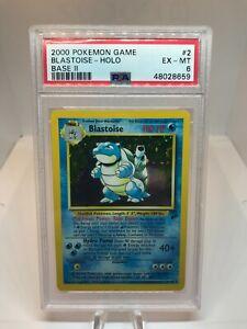 2000 Pokemon Blastoise - Base Set 2 - Holo Rare - PSA 6