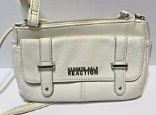 Kenneth Cole Reaction Small White Crossbody Purse Bag Mini Logo Faux Leather