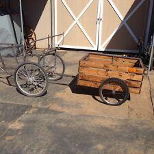Custom Hand Made One-Of-A-Kind Wood Horse Cart Trailer/Wagon- Fits Pony Cart
