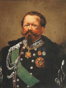 "perfect 24x36 oil painting handpainted on canvas""King Victor Emmanuel II""@N10405"