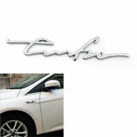 1PC 3D TURBO Sports Emblème Insigne Autocollant Metal Car Sticker Decal Silver A