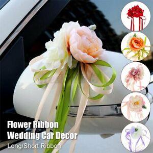 Wedding Car ation Flower Garland Ribbon Bows Plate Set Door Handle  A