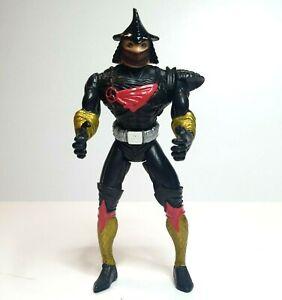 Vintage TMNT Shredder Figure Bootleg Black, Red & Gold Teenage Mutant Ninja 16cm