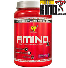 BSN AMINO X 1KG WATERMELON 70 SERVE BCAA aminos bcaas recovery strength muscle