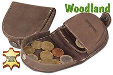 Woodland® Schüttelbörse / Wiener Schachtel aus Büffel Leder in Dunkelbraun
