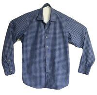 Ganton Men's Sport City Pure Cotton Long Sleeve Check Shirt Size M