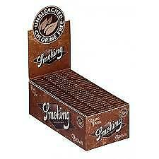 Smoking Rolling Paper Standard Brown Box Of  50