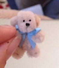Dollhouse Tiny Handmade Cute Teddy Bear, Posable For Dolls Houses 2 1/2 Cm