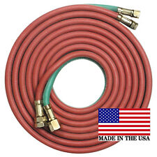 12.5' x 3/16 Twin Torch Hose A - B Fittings Oxygen Acetylene Welding, Grade R