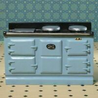 1/12 Scale Dolls House Emporium Light Blue large Aga-Style Stove Oven 8096