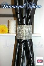 Pair Diamond Curtain Clip On Holder Tie Backs