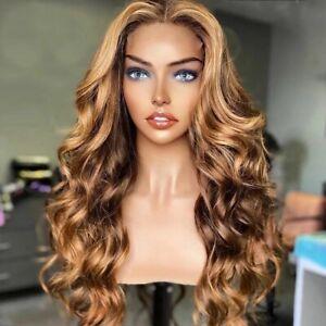 8A 250 Density Unprocessed Brazilian Highlight Loosewave 13x4  Human Hair Wig