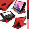 Rosso EcoPelle Custodia Case Cover per LG Google Nexus 5 Sleep/Wake Prot Schermo