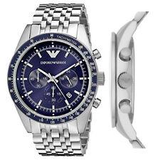 Emporio Armani AR6072 Sportivo Blue Dial Chronograph 46mm Case Gents Men's Watch