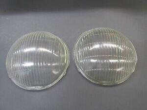 PAIR CHEVY PASSENGER 1937 -38 HEADLIGHT LAMP GLASS LENS DOOR LENSES 920544