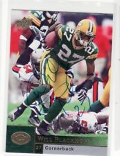 WILL BLACKMON GREEN BAY PACKERS BOSTON COLLEGE UNIVERSITY AUTOGRAPHED CARD