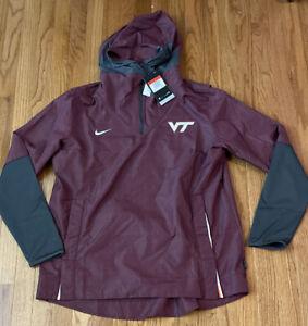 Men's Virginia Tech Hokies Nike College Player Quarter-Zip Hoodie Jacket Large