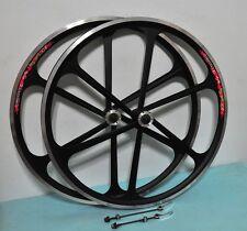 Mag Alloy BLACK 700C 8/9/10 Gear Bike Rims(F&R), V /Disc BRAKE